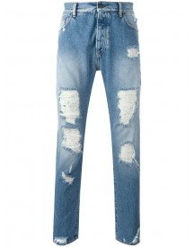 Palm Angels - Distressed Jeans - Men - Cotton/polyester - 31 afbeelding