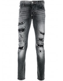 Philipp Plein - Super Straight Cut Jeans - Men - Cotton/polyester/spandex/elastane - 33 afbeelding
