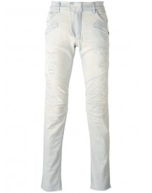 Pierre Balmain - Destroyed Skinny Jeans - Men - Cotton/elastodiene - 33 afbeelding