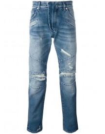 Pierre Balmain - Distressed Slim Jeans - Men - Cotton - 30 afbeelding