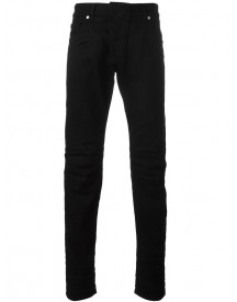 Pierre Balmain - Panelled Slim-fit Jeans - Men - Cotton/spandex/elastane - 30 afbeelding