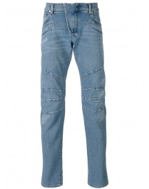 Pierre Balmain - Seaming Details Slim-fit Jeans - Men - Cotton/spandex/elastane - 36 afbeelding