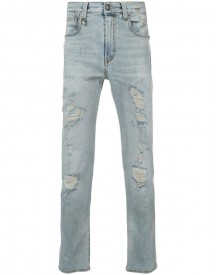 R13 - Distressed Skinny Jeans - Men - Cotton - 32 afbeelding