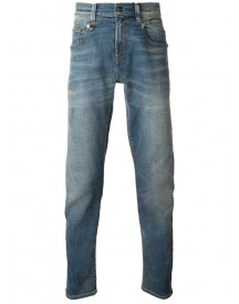 R13 - Faded Straight Leg Jeans - Men - Cotton/calf Leather/polyester/spandex/elastane - 33 afbeelding