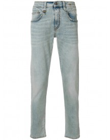 R13 - Five Pockets Tapered Jeans - Men - Cotton/calf Leather/spandex/elastane - 33 afbeelding