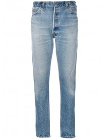 Re/done - Ripped Detail Tapered Jeans - Women - Cotton - 27 afbeelding