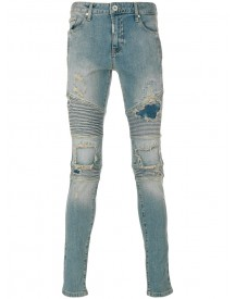 Represent - Panelled And Distressed Jeans - Men - Cotton/spandex/elastane - 30 afbeelding