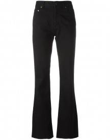 Saint Laurent - Flared Raw Edge Jeans - Women - Cotton - 28 afbeelding