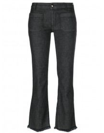 The Seafarer - Frayed Flared Jeans - Women - Cotton/polyester/spandex/elastane/tencel - 31 afbeelding
