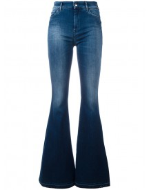 The Seafarer - Stretch Flared Jeans - Women - Cotton/elastodiene - 28 afbeelding