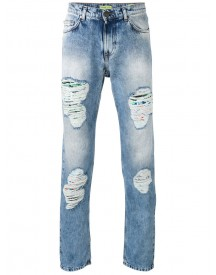 Versace Jeans - Distressed Straight Jeans - Men - Cotton/polyester - 29 afbeelding
