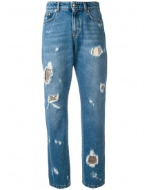Versus - Distressed Boyfriend Jeans - Women - Cotton/polyester/metal - 25 afbeelding