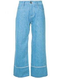 Vionnet - Cropped Wide Leg Jeans - Women - Cotton - 42 afbeelding