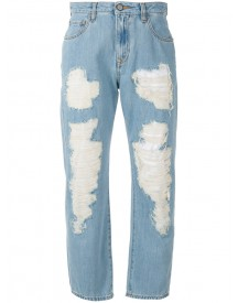 Vivienne Westwood Anglomania - Cropped Distressed Jeans - Women - Cotton - 26 afbeelding