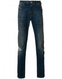 Vivienne Westwood Anglomania - Ripped Knee Jeans - Men - Cotton/polyester/spandex/elastane - 31 afbeelding