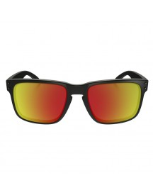 Oakley Holbrook Matte Black/ruby Iridium Polarized afbeelding