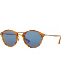 Persol Po3166s Striped Brown / Light Blue Lens afbeelding