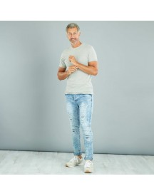 Slimfit Destroy Jeans Van Stretch Denim afbeelding