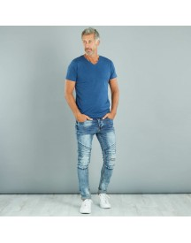 Slimfit Stretch Jeans Met Destroyed afbeelding