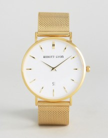 Abbott Lyon Gold Chain Kensington 40 With White Face afbeelding