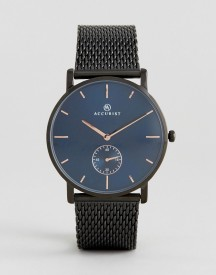 Accurist Black Mesh Watch With Blue Dial afbeelding