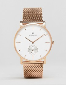 Accurist Mesh Bracelet Watch In Rose Gold afbeelding