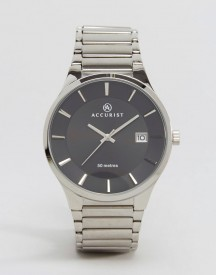 Accurist Silver Bracelet Watch With Black Dial afbeelding