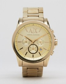 Armani Exchange Ax2099 Chronograph Gold Stainless Steel Strap Watch afbeelding