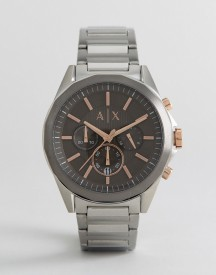 Armani Exchange Ax2606 Chronograph Bracelet Watch In Silver 44mm afbeelding