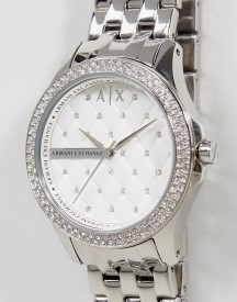 Armani Exchange Ax5215 Diamante Watch In Silver afbeelding