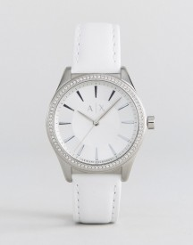 Armani Exchange Ax5445 Leather Watch In Silver afbeelding