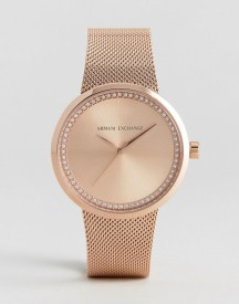 Armani Exchange Ax4503 Mesh Watch In Rose Gold afbeelding