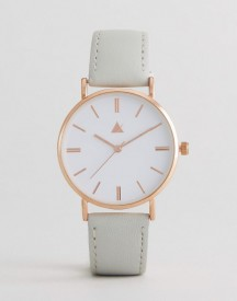 Asos Classic Grey Leather Watch afbeelding