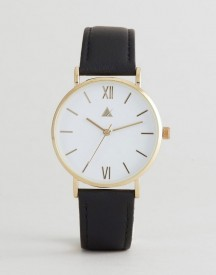 Asos Curve Classic Black Leather Watch afbeelding