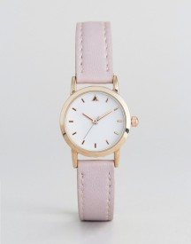 Asos Curve Mini Blush Strap Watch afbeelding