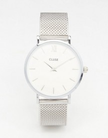 Cluse Minuit Silver Mesh Watch Cl30009 afbeelding