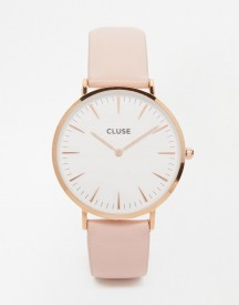 Cluse La Boheme Rose Gold & Pink Leather Watch Cl18014 afbeelding