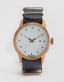 Hypergrand Classic Grey Leather Watch afbeelding