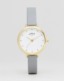 Limit 6219.37 Faux Leather Watch In Grey afbeelding