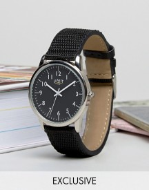 Limit Canvas Watch In Black Exclusive To Asos afbeelding