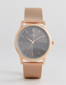 Limit Mesh Strap Watch In Rose Gold Exclusive To Asos afbeelding