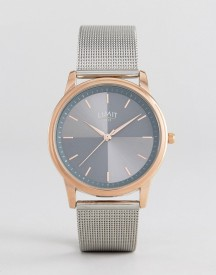 Limit Mesh Strap Watch In Silver Exclusive To Asos afbeelding