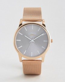 Limit Mesh Watch In Rose Gold Exclusive To Asos afbeelding