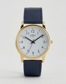 Limit Watch In Navy With Gold Dial Exclusive To Asos afbeelding