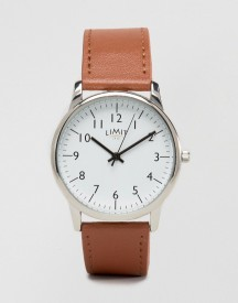 Limit Watch In Tan Exclusive To Asos afbeelding