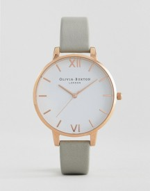 Olivia Burton Ob16bdw02 White Big Dial Watch In Grey & Rose Gold afbeelding