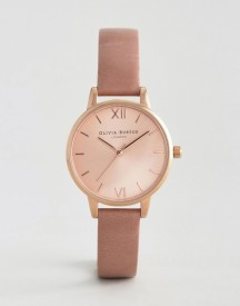 Olivia Burton Rose Midi Dial Leather Watch afbeelding