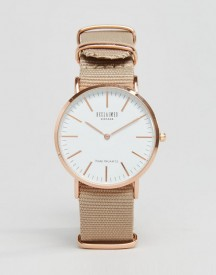 Reclaimed Vintage Inspired Canvas Watch In Beige Exclusive To Asos afbeelding
