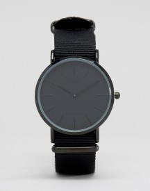 Reclaimed Vintage Inspired Canvas Watch In Black Exclusive To Asos afbeelding