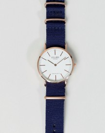 Reclaimed Vintage Inspired Canvas Watch In Blue 36mm Exclusive To Asos afbeelding